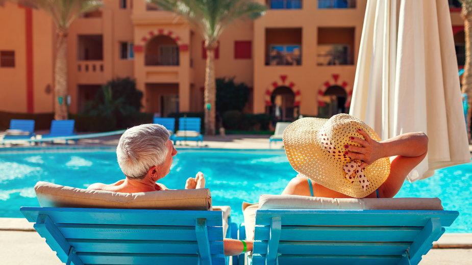 Turyści w hotelu