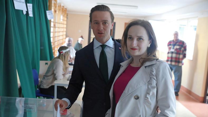 Krzysztof Bosak z żoną Kariną