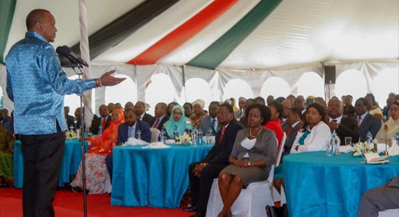 President Uhuru Kenyatta meeting with all Jubilee Party MPs