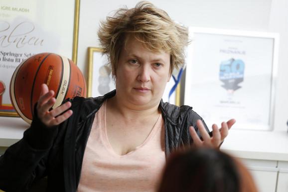 Marina Maljković prilikom posete