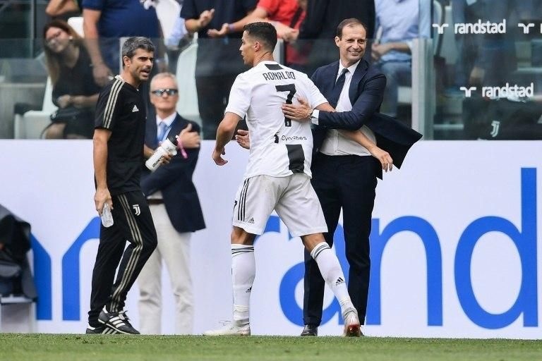 Cristiano Ronaldo broke his scoring duck with a double for Juventus against Sassuolo.