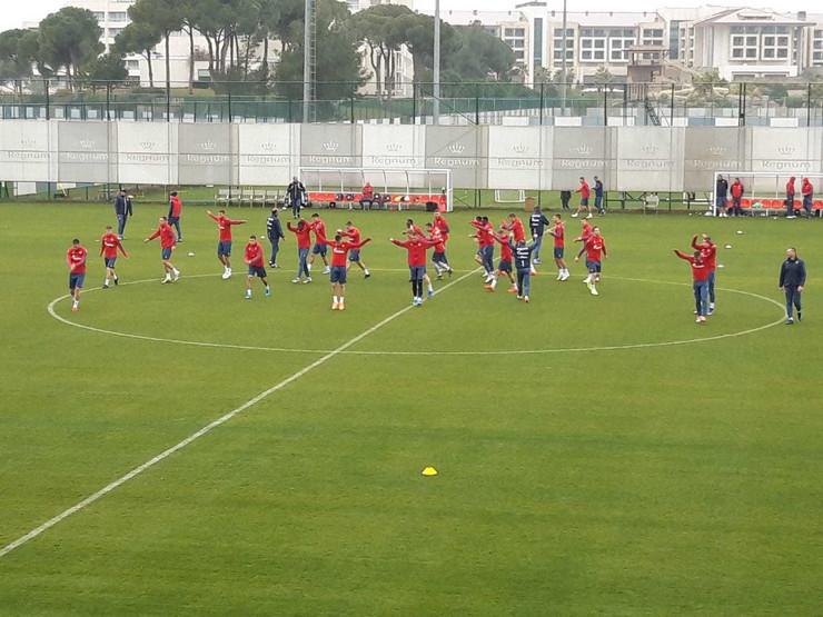 FK Crvena zvezda, trening u Antaliji