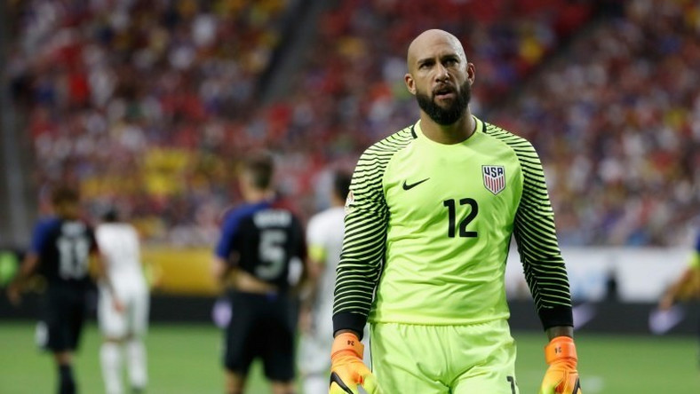 Goalkeeper Tim Howard of United States walks on the pitch during the 2016 Copa America Centenario third place match against Colombia June 25, 2016 in Glendale, Arizona