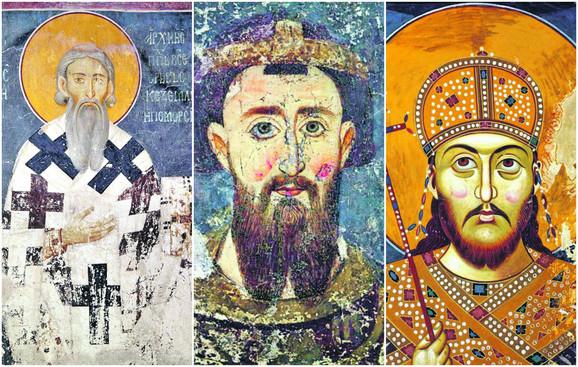 Stefan Nemanja, Sveti Sava i car Dušan