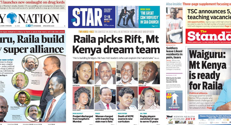Newspaper headlines this week a possible alliance