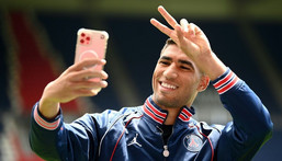 Achraf Hakimi is one of the big-name signings made by PSG as they look to wrestle back the Ligue 1 title from Lille and go all the way in Europe Creator: FRANCK FIFE