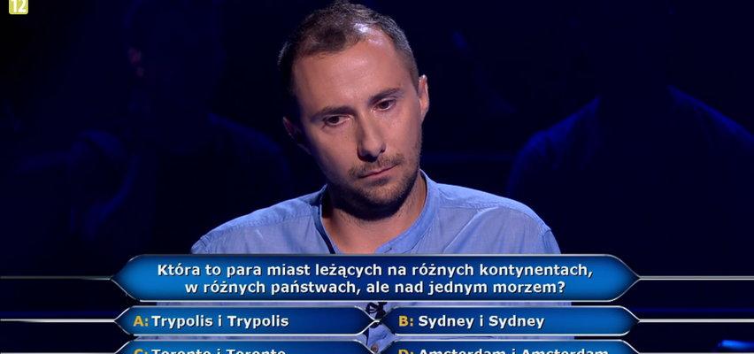 """""""Milionerzy""""- pytanie z geografii zaskoczyło oceanografa ze Szczecina! Sprawdź, o co chodziło."""