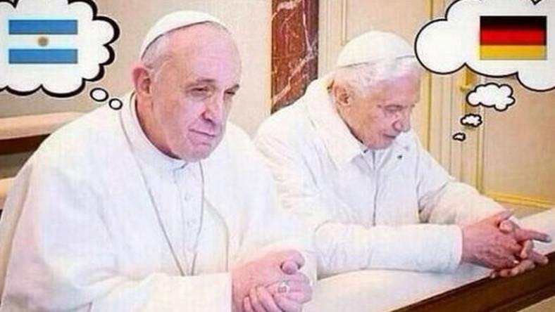 Argentyńczyk Jorge Bario Bergoglio i Niemiec Joseph Ratzinger
