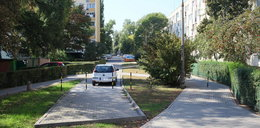 Absurd na Pradze. Chodnik urywa się na środku trawnika.