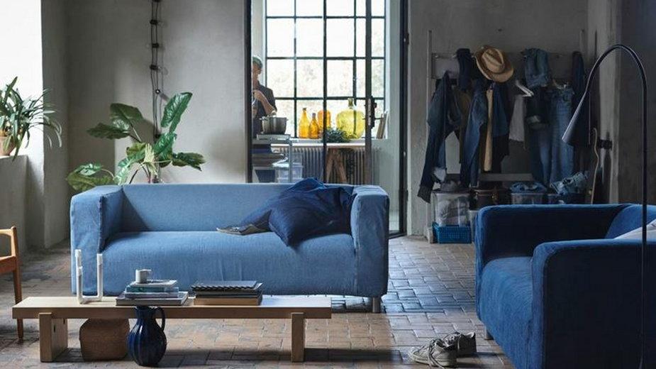 IKEA wprowadza pokrowce na kanapę z jeansu z recyklingu