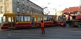 Wykolejenie tramwaju. Plac Reymonta w Łodzi to czarny punkt