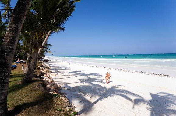 Diani plaža, Kenija