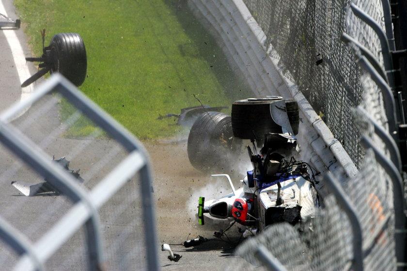 Ten wypadek wyglądał strasznie