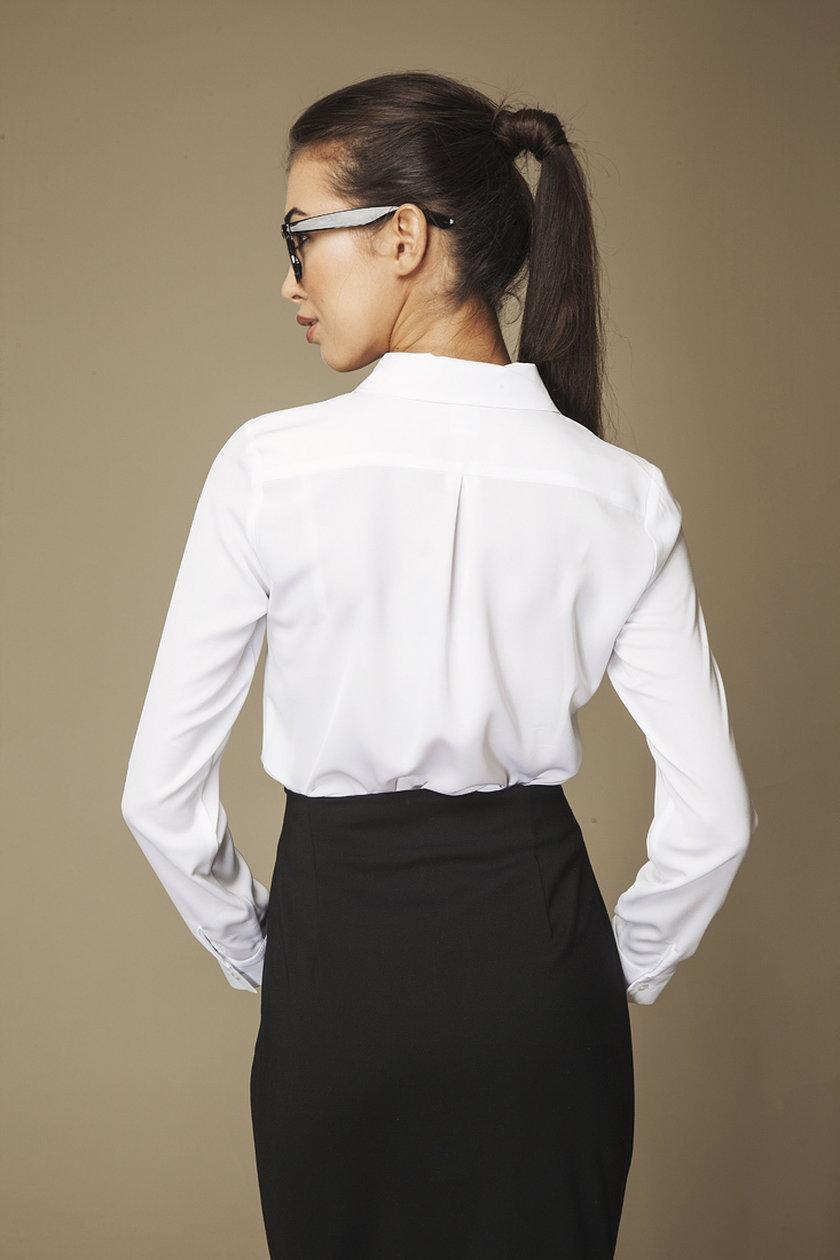 AMBIGANTE biała koszula z falbaną 79,90 zł