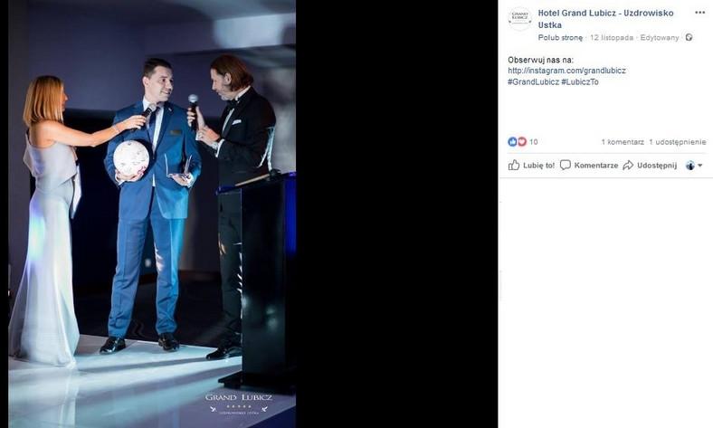 Małgorzata Rozenek i Radosław Majdan na charytatywnym balu w Hotelu Grand Lubicz w Ustce