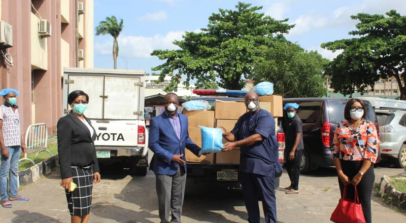 NFF donate facemask, hand gloves, PPE to Lagos State Government