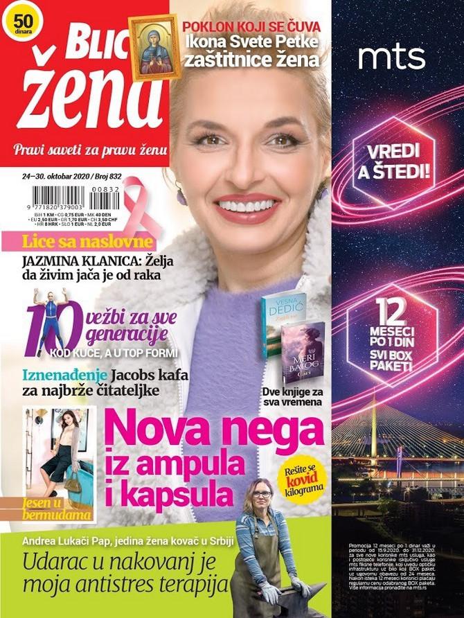 Jazmina Klanica na naslovnoj strani ovonedeljne Blic žene