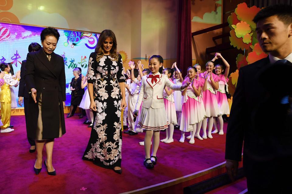 Melania Trump i pierwsza dama Chin Peng Liyuan