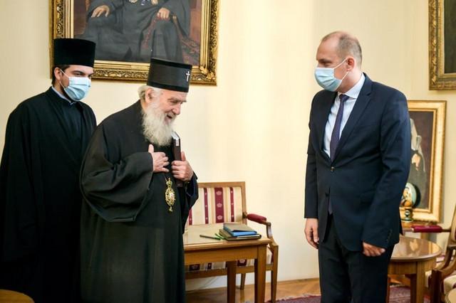 Patrijarh Irinej i Zlatibor Lončar tokom susrete pre dva dana