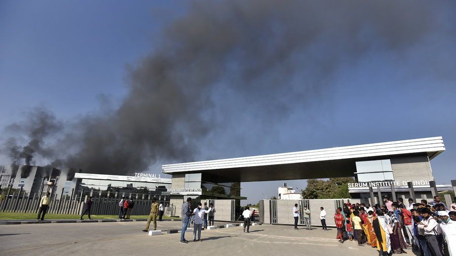 Pożar w fabryce w Pune