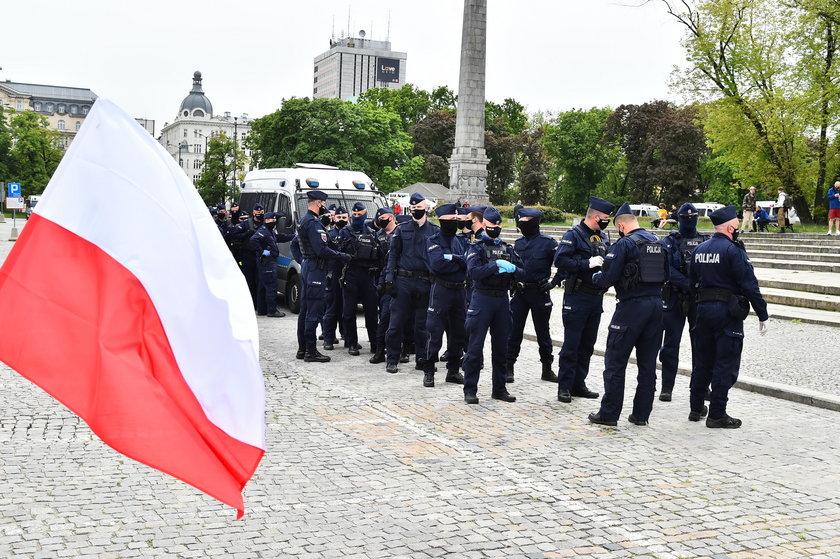 Strajk przedsiębiorców w Warszawie