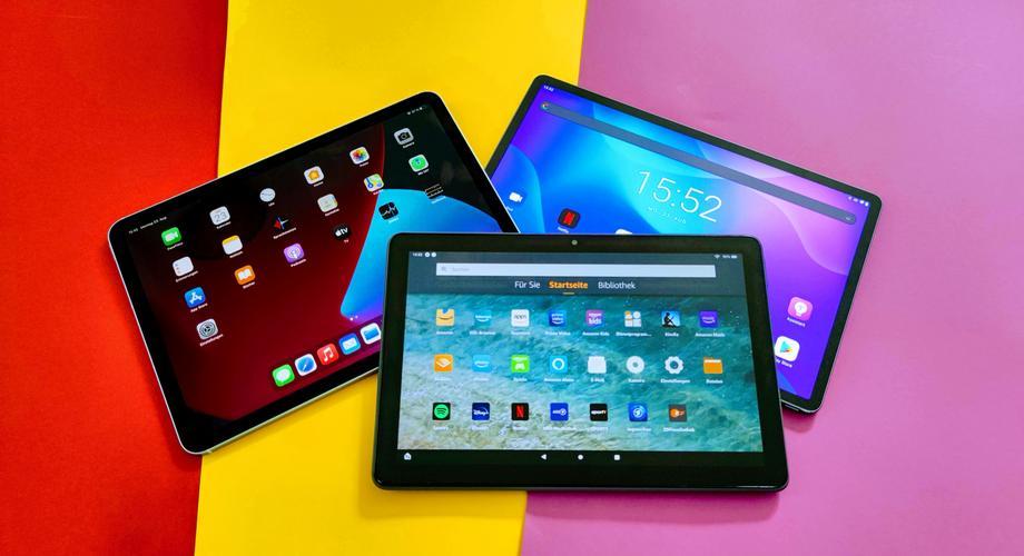 Tablets: iPad Air 4, Lenovo Tab P11 Pro, Amazon Fire HD 10 Plus
