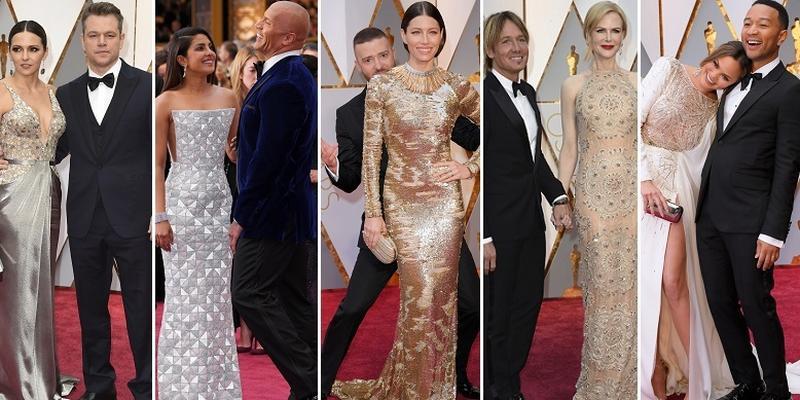 Piękne pary na Oscarach 2017. Jak oni się kochają!