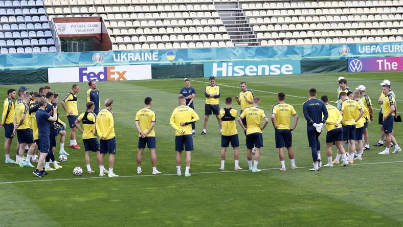 Trening ukraińskiej drużyny