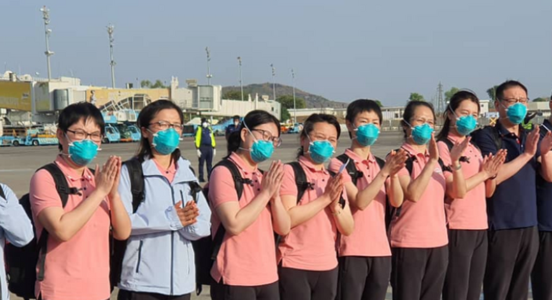 Chinese Doctors arrived in Nigeria to help in he fight against coronavirus. (Punch)
