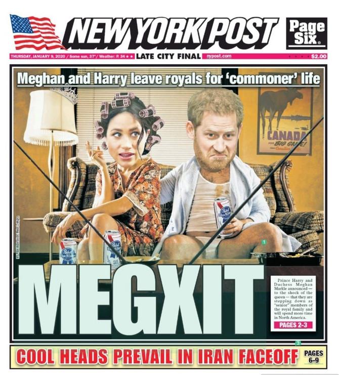 """Megan Markl i princ Hari na naslovnoj strani """"Njujork tajmsa"""""""