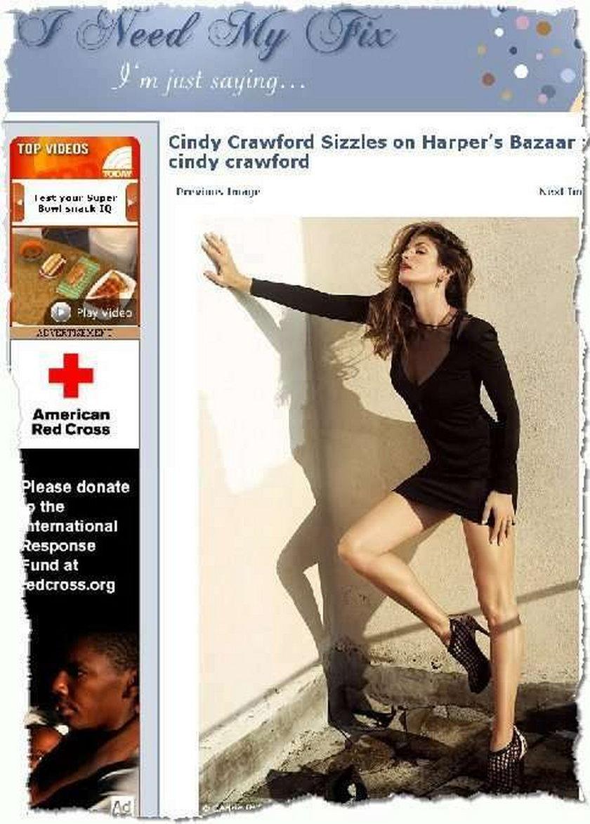 Gorąca sesja Cindy Crawford