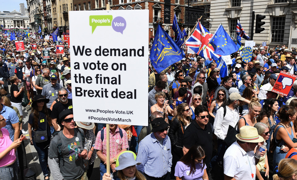 epa06834045 - BRITAIN BREXIT PEOPLES MARCH (People's March Against Brexit in London)