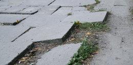 Wyremontujcie zniszczone chodniki