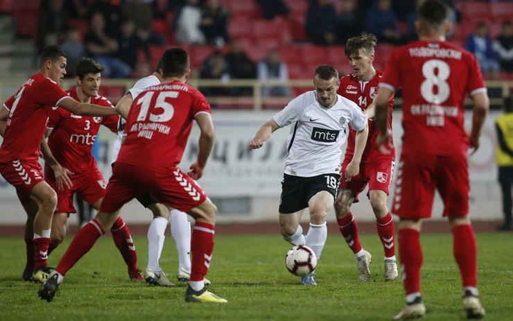 FK Radnički Niš, FK Partizan