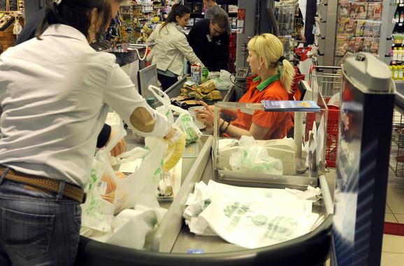 Cilj da se smanji upotreba plastičnih kesa na 90 po osobi godišnje