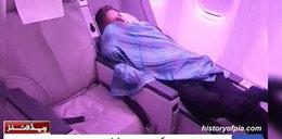 Gorszące sceny w samolocie! Pasażerowie przyłapali na tym pilota