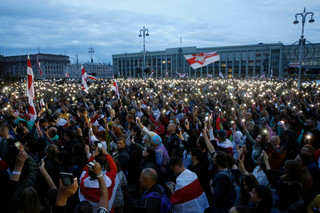 """W Mińsku dwa mityngi – niepodległościowy i """"za Baćkę"""""""
