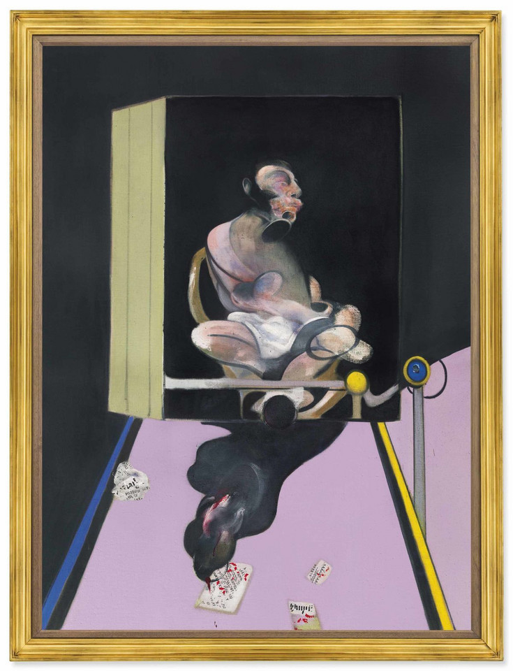 "49,9 mln dol. - Francis Bacon, ""Study for Portrait"", 1977"