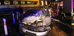 Pendolino staranowało samochód. Kierowca trafił do szpitala. Znamy powód wypadku