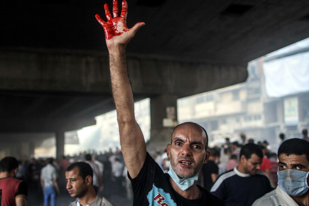 Manifestacje zwolenników Bractwa Muzułmańskiego w Egipcie