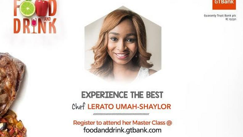 Lerato Umah-Shaylor to host a Masterclass at the 2017 GTBank Food and Drink Fair