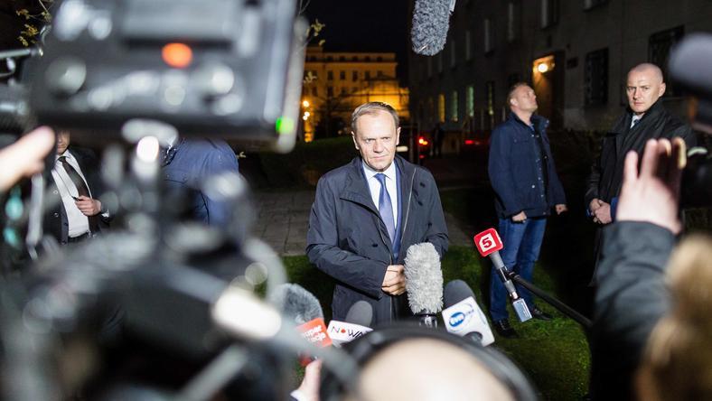 Donald Tusk po przesłuchaniu: cała sprawa ma charakter wybitnie polityczny