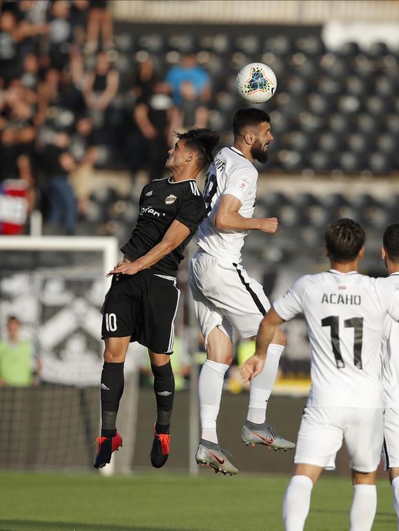 Aleksandar Šćekić na meču FK Partizan - Čukarički
