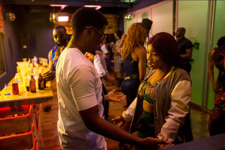 Seyi seems to have found more than a friend in Tacha. [Africa Magic/BBNaija]
