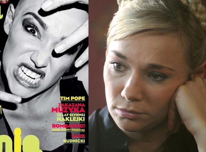 """Sonia Bohosiewicz: po lewej w """"Machinie"""" ze stycznia 2010, po prawej w serialu """"39 i pół"""""""