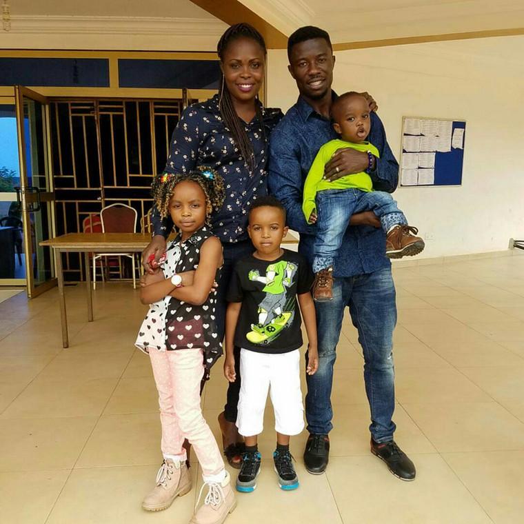 Kwaku Manu and his lovely family