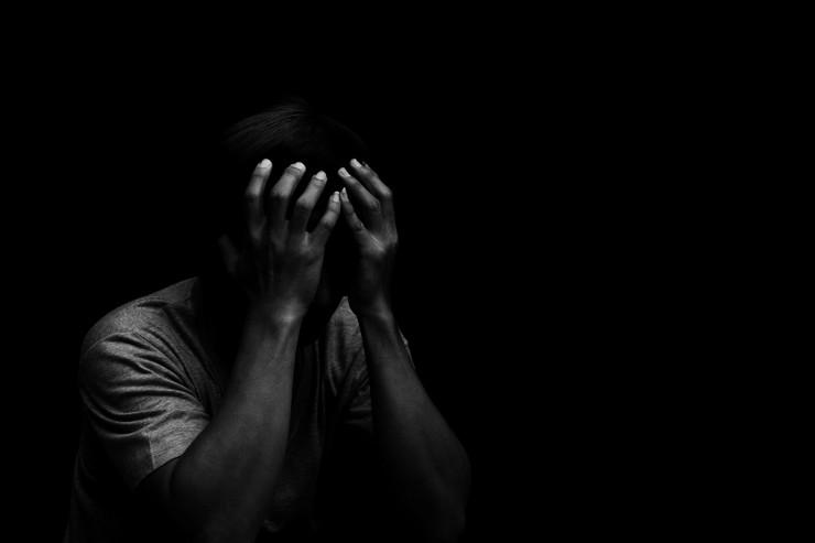depresija, otac, plakanje, muškarac