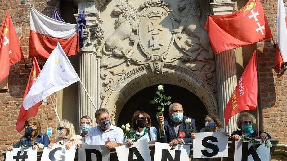 Jedna z zeszłotygodniowych manifestacji w Gdańsku