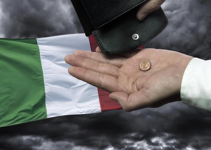 Bankruptcy of Italy - Illustration