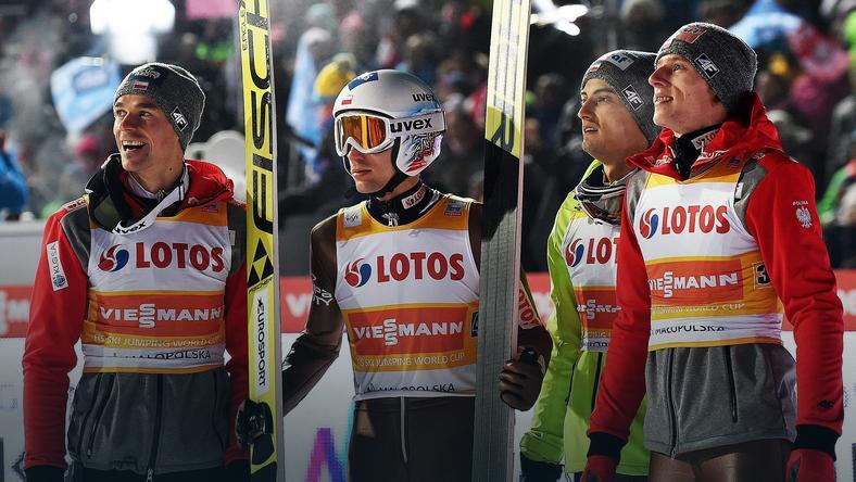 Od lewej:  Piotr Żyła, Kamil Stoch, Maciej Kot iDawid Kubacki